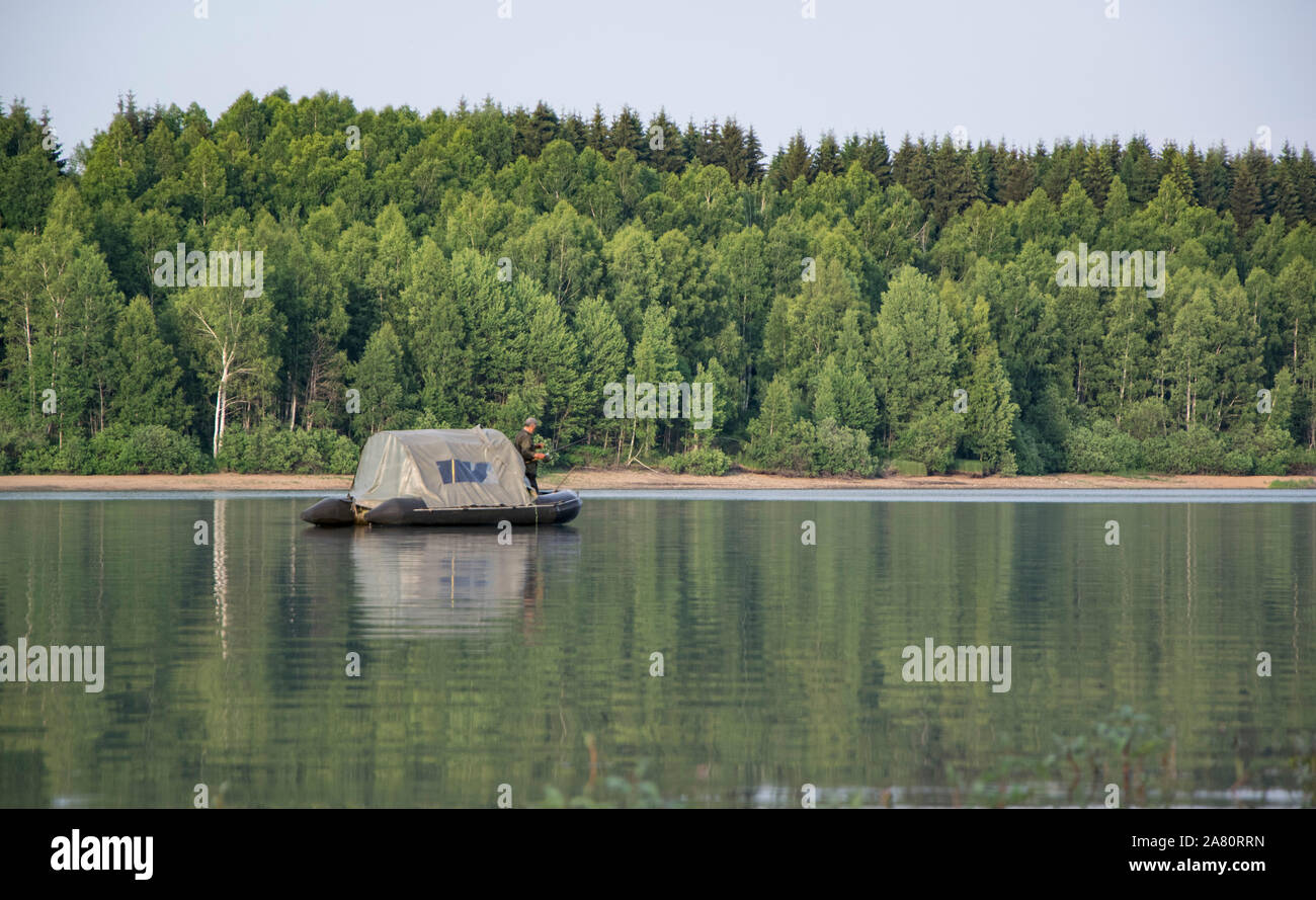 Beautiful Vlasina Lake (Serbia) in summer. Stock Photo