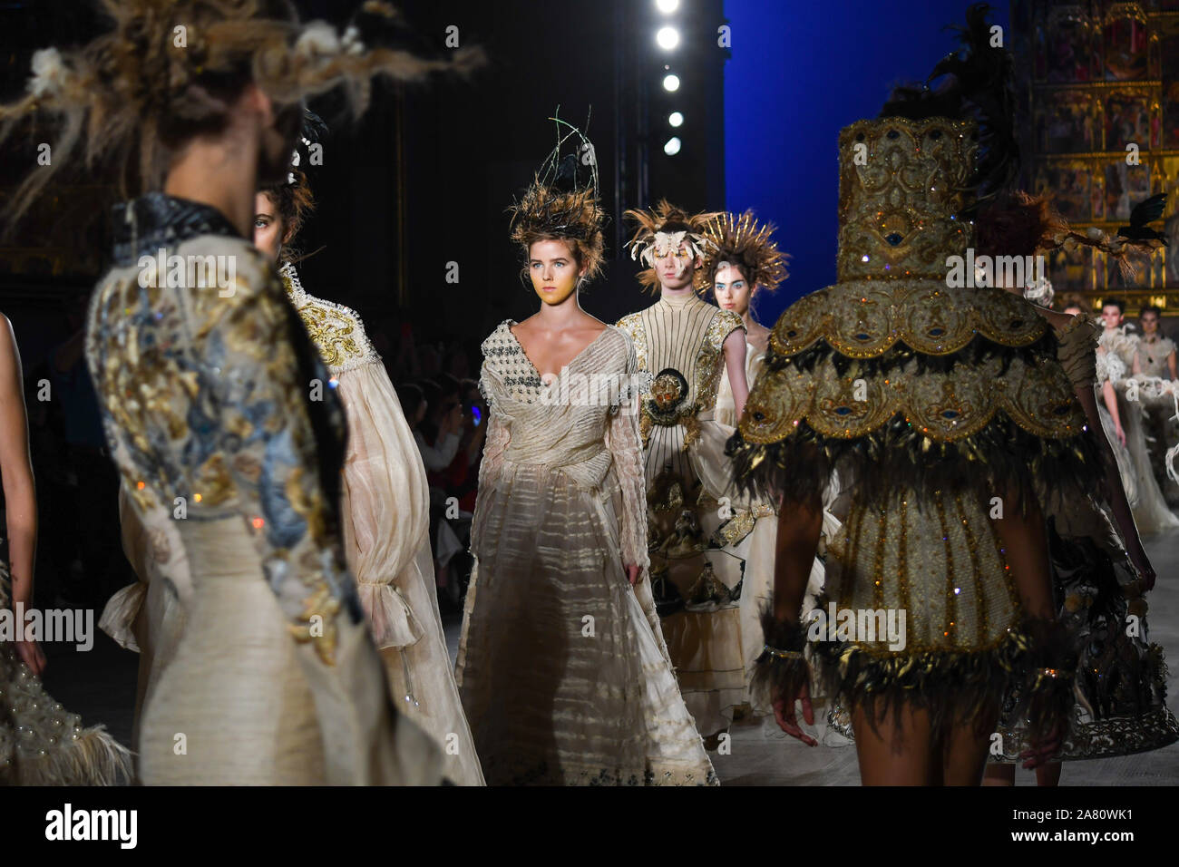 Guo Pei Fashion In Motion At The Victoria Albert Museum This Was Guo Pei S First Catwalk Show In The Uk Showcasing Her Alternate Universe Collection Guo Pei Is One Of China S