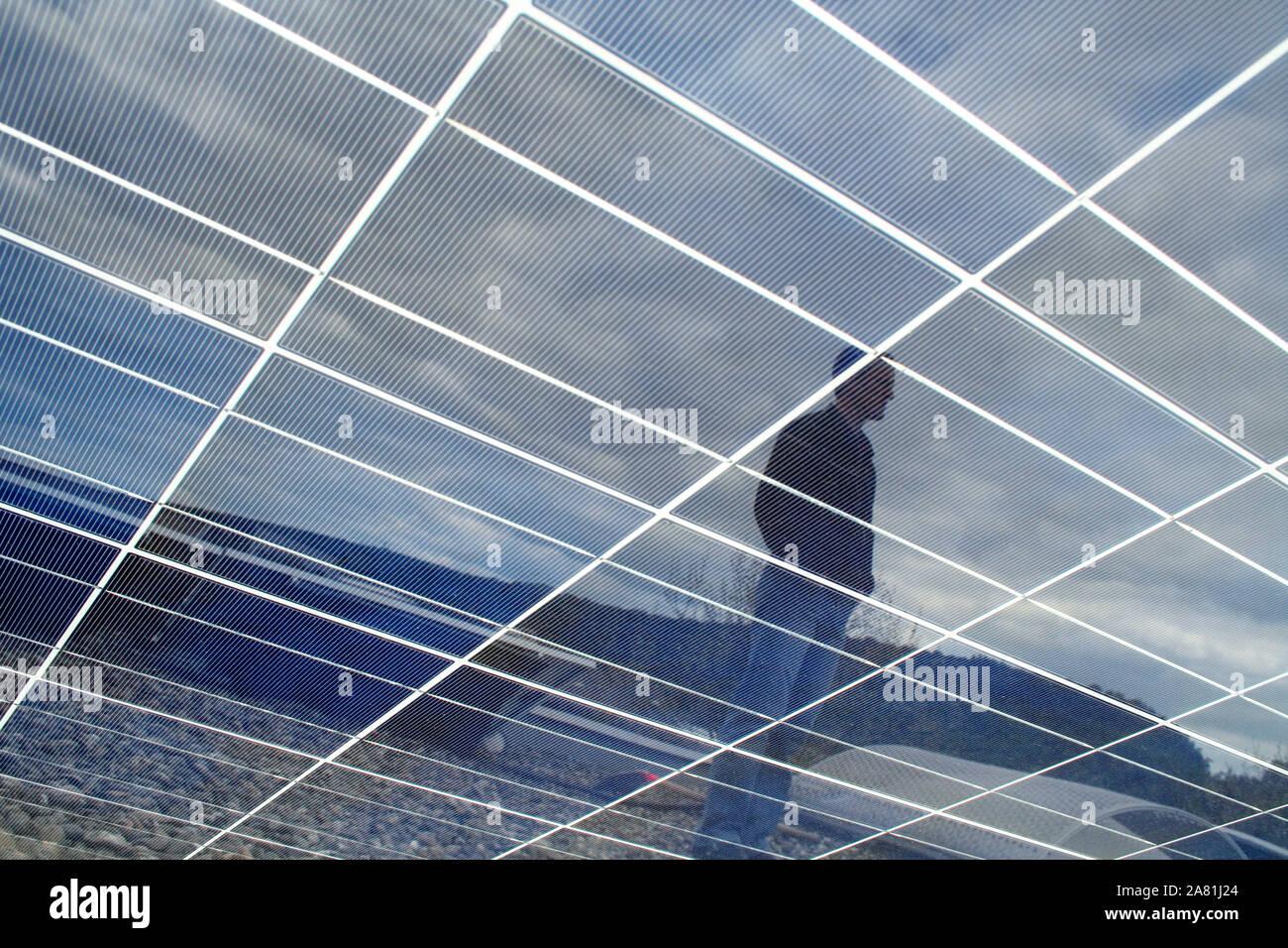 Solar Energy for everybody Stock Photo