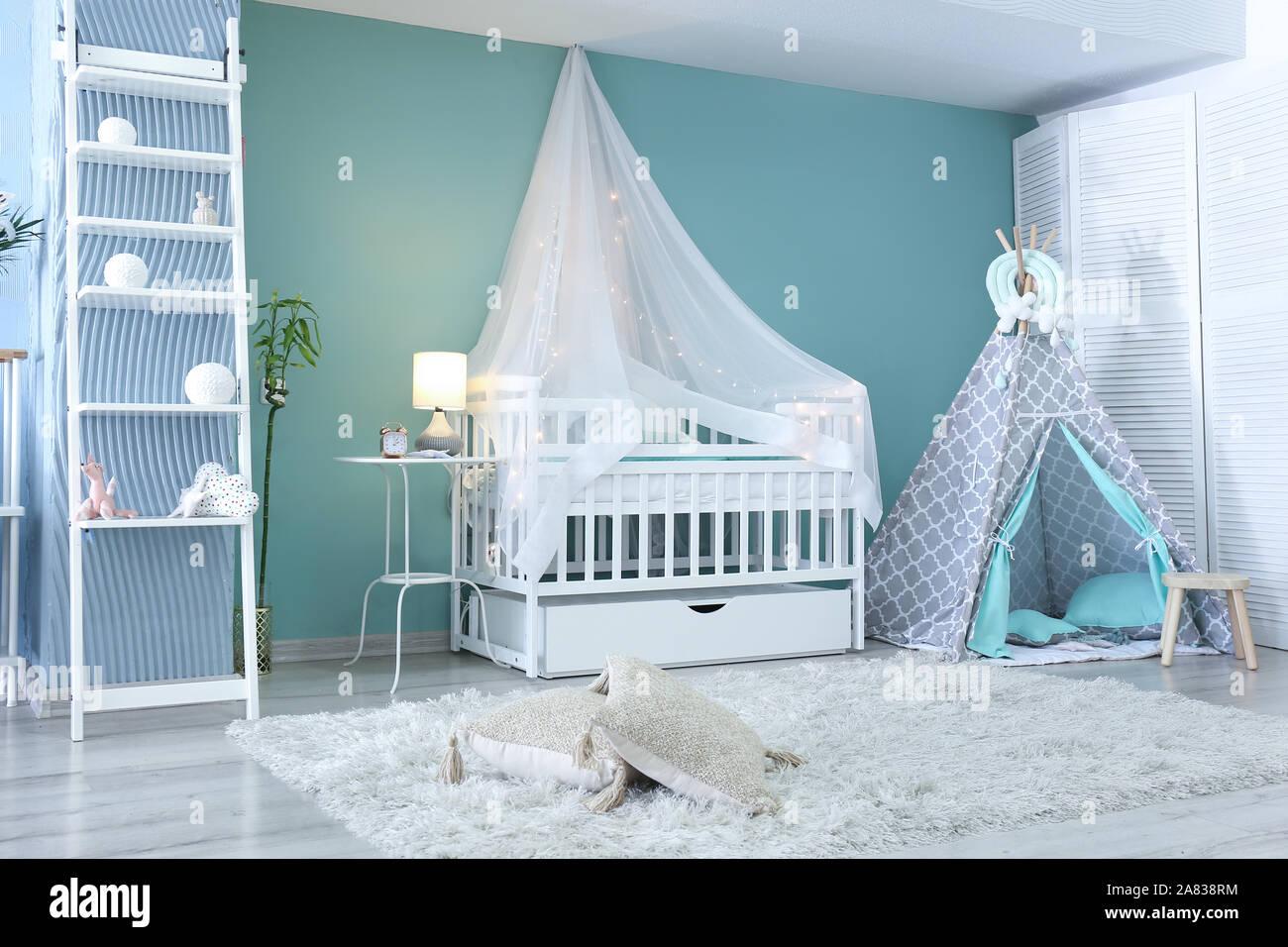 Interior of modern children\'s room Stock Photo: 331987032 ...