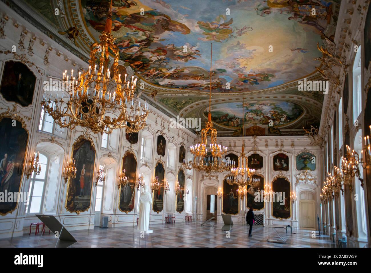 Inside Kaiserliche Hofburg Imperial Palace, seen from Rennweg, Innsbruck, Inn Valley, Tyrol, Austria Stock Photo