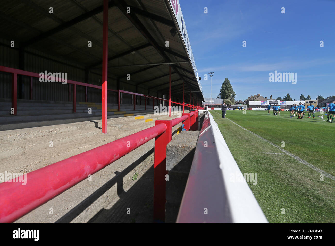 General view of the ground during Dagenham & Redbridge vs Hartlepool United, Vanarama National League Football at the Chigwell Construction Stadium on Stock Photo