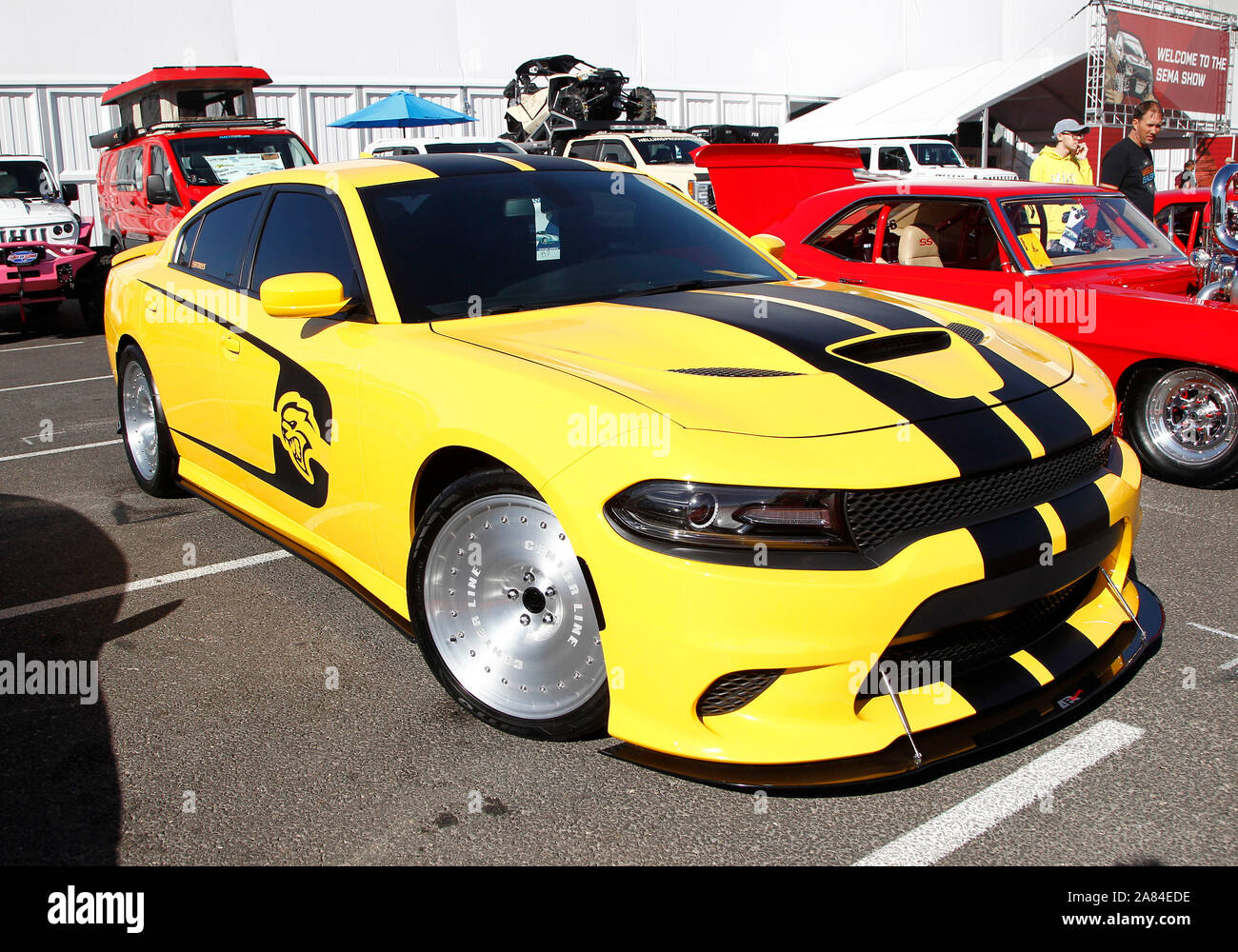 Las Vegas United States 05th Nov 2019 A Customized 2017 Dodge Charger Hellcat On Display During The 2019 Sema Show At The Las Vegas Convention Center In Las Vegas Nevada On Tuesday