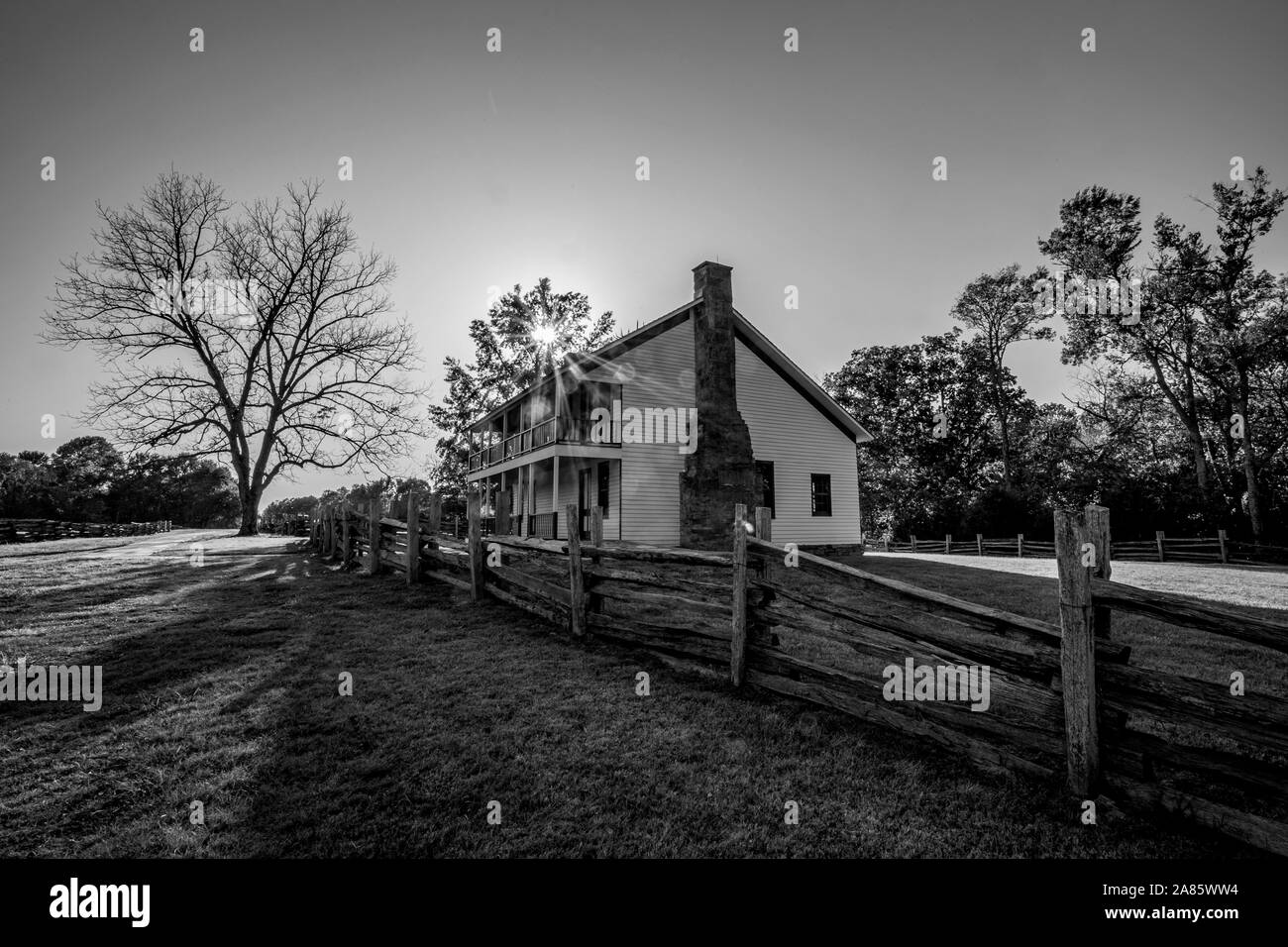 Pea Ridge National Battlefield in Pea Ridge, Arkansas Stock Photo