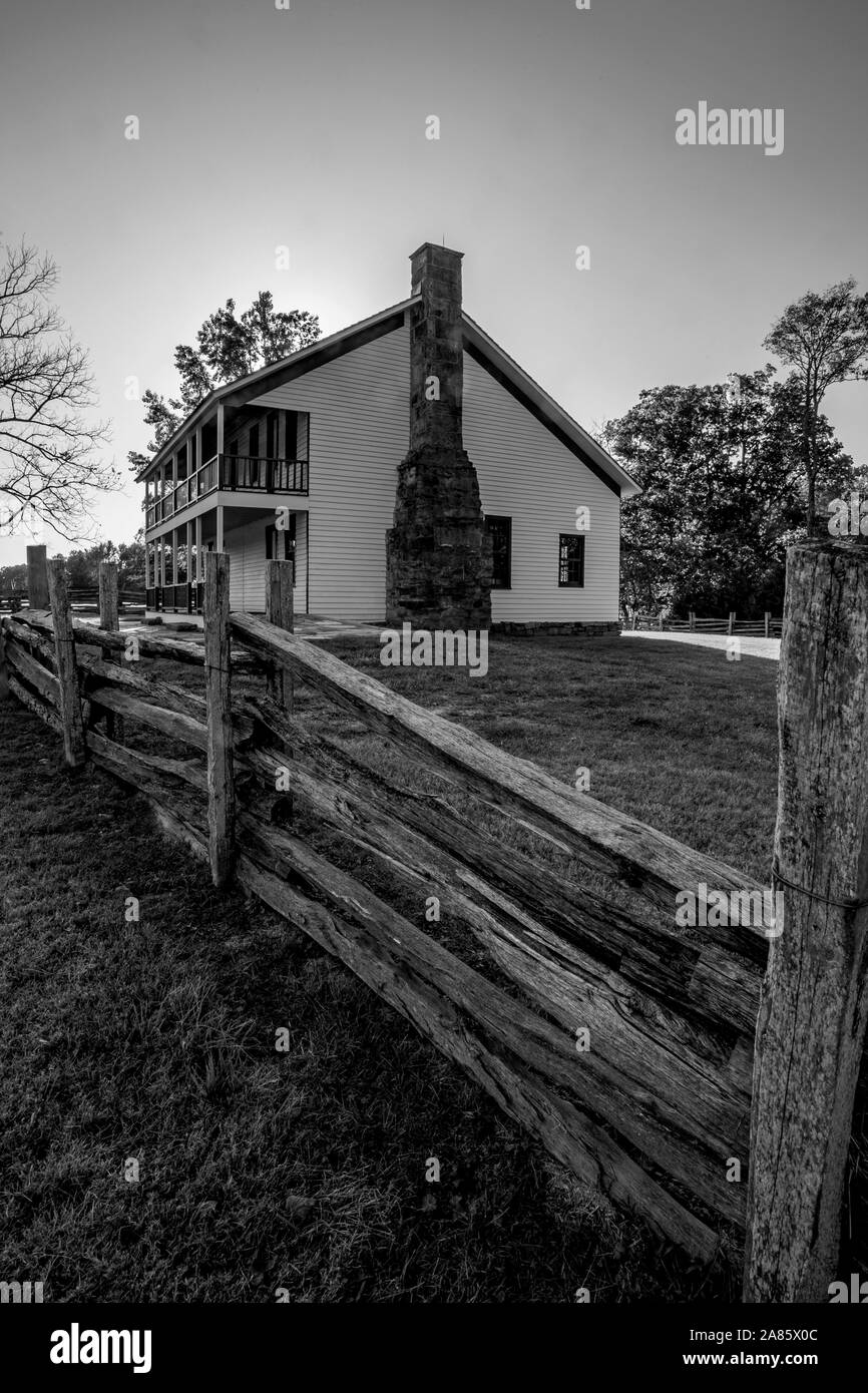 Pea Ridge National Battlefield in Pea Ridge, Arkansas Stock Photo