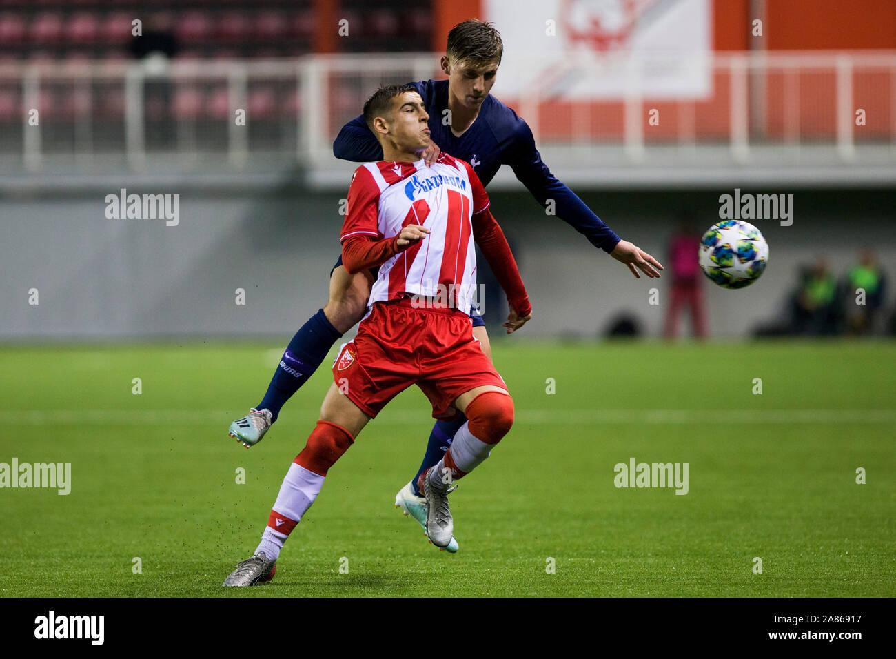 6th November 2019 Vozdovac Stadium Belgrade Serbia Uefa