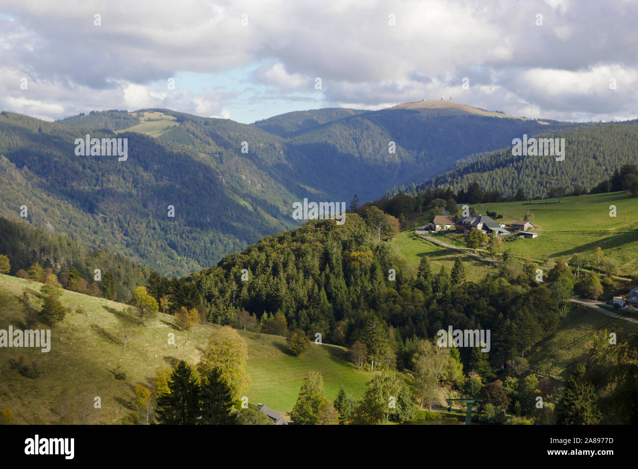 View from Schauinsland to Feldberg, Black Forest, Germany Stock Photo
