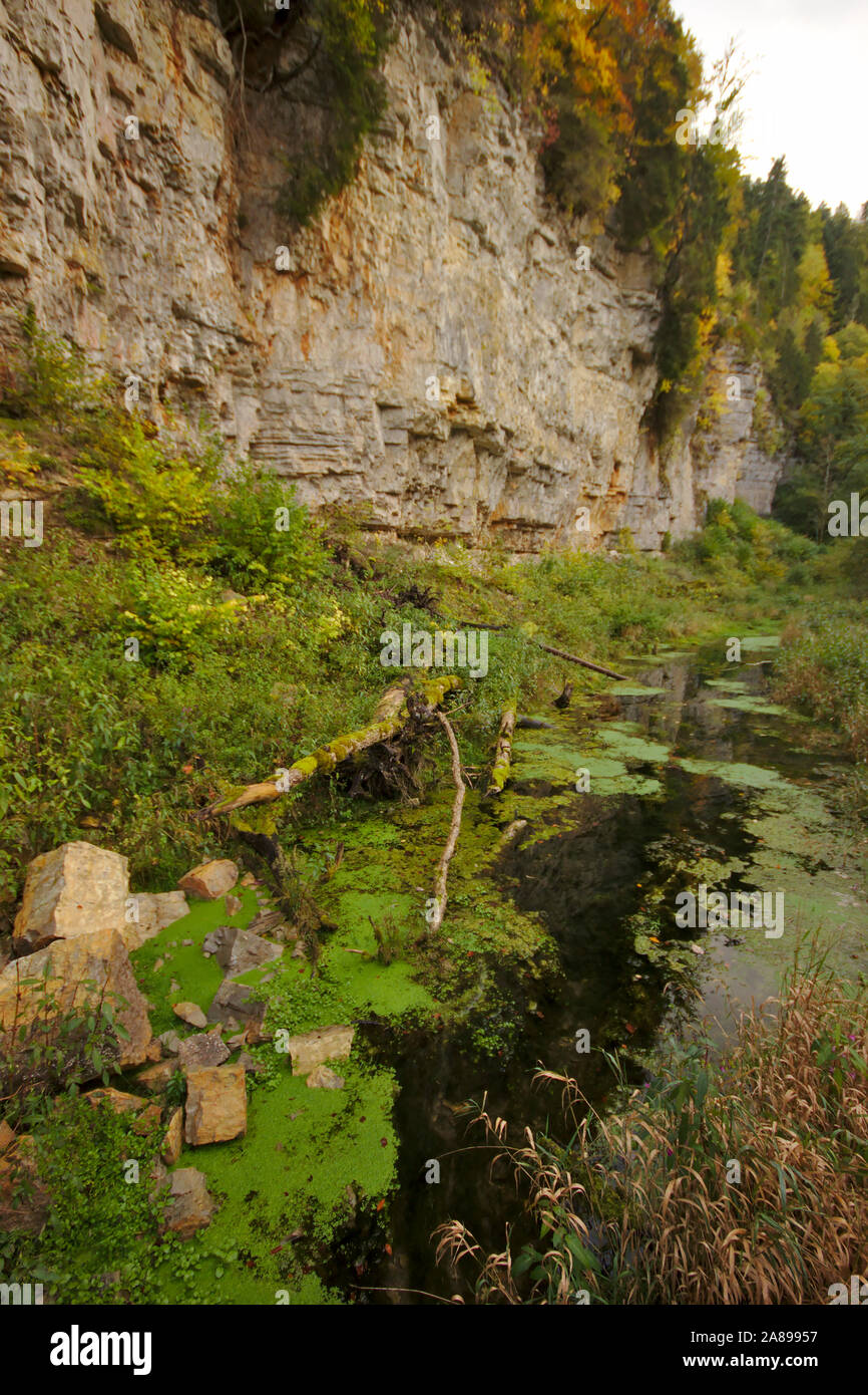 Wutachschlucht (Wutach canyon),  autumn, Black Forest, Germany Stock Photo