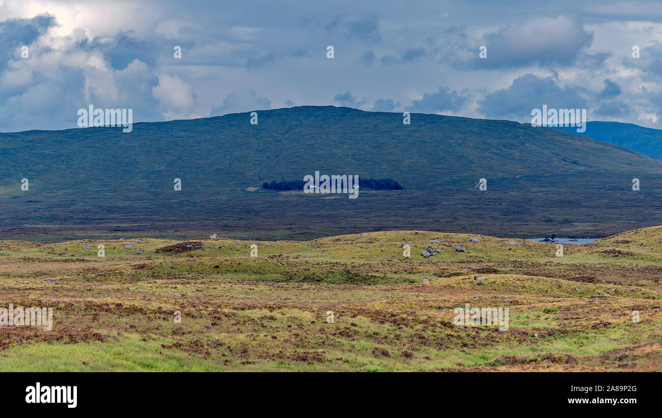 Rannoch Moor and Lodge on A82 out of Glencoe, Scotland Stock Photo