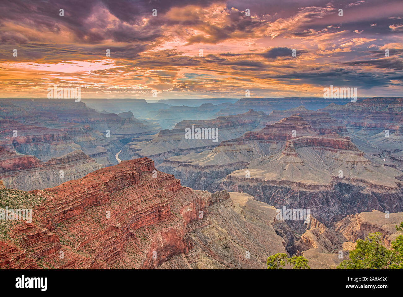Sunset Clouds Grand Canyon National Park Arizona Hopi