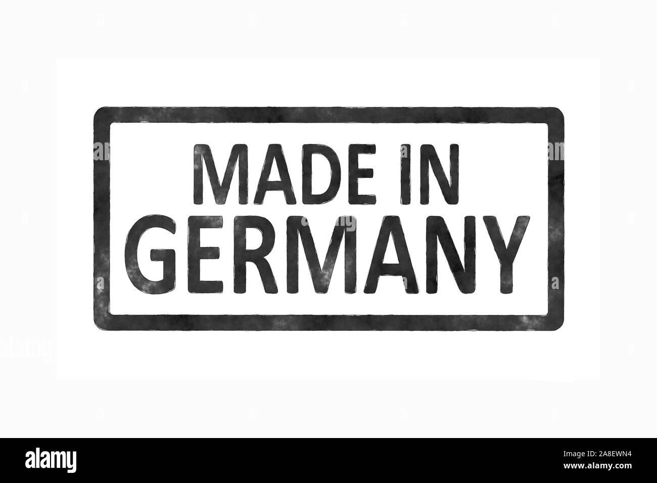 """Ein Etikett mit der Aufschrift: """"Made in Germany"""" Stock Photo"""