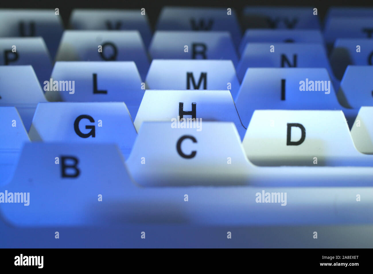 ABC-Register, Registerkarten, Stock Photo