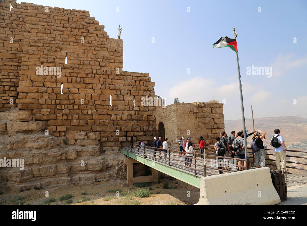 Ottoman's Gate, Karak Castle, Al Karak, Karak Governorate, Jordan, Middle East Stock Photo