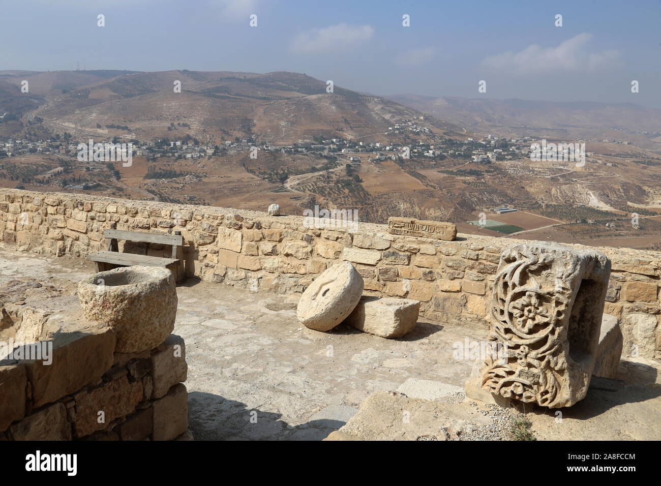 Lower Court, Karak Castle, Al Karak, Karak Governorate, Jordan, Middle East Stock Photo