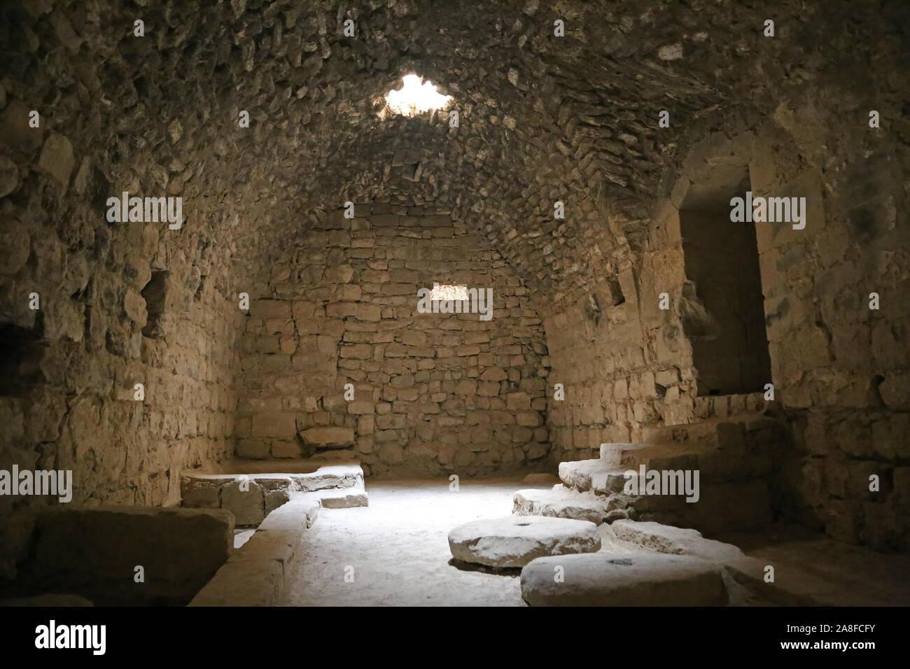 Kitchen, Karak Castle, Al Karak, Karak Governorate, Jordan, Middle East Stock Photo
