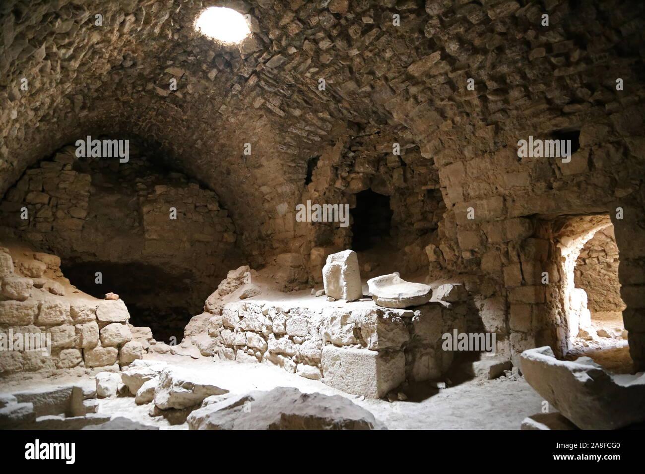 Oven, Karak Castle, Al Karak, Karak Governorate, Jordan, Middle East Stock Photo