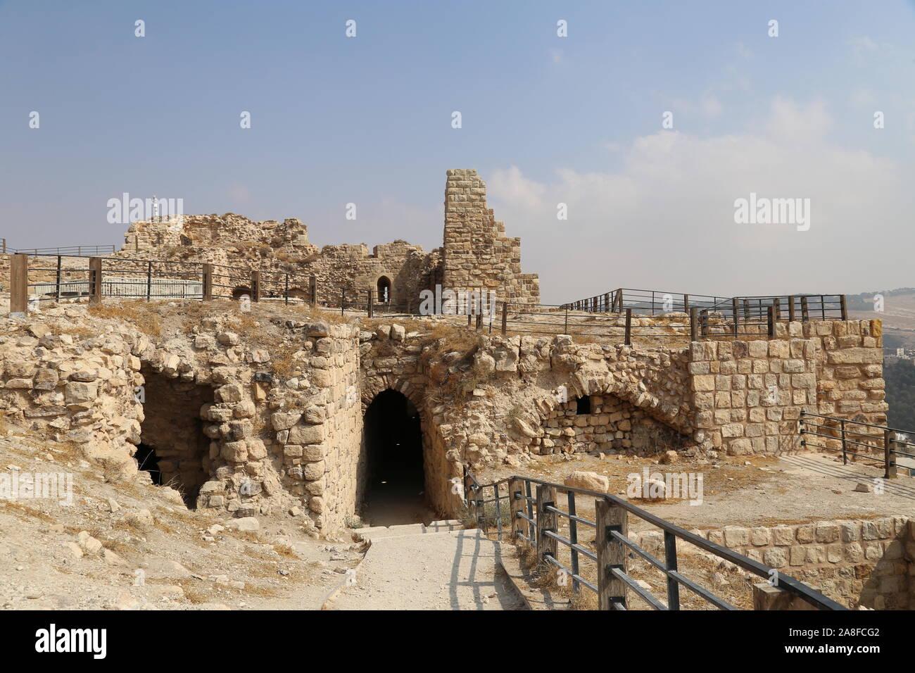 Kitchen and Barracks, Karak Castle, Al Karak, Karak Governorate, Jordan, Middle East Stock Photo