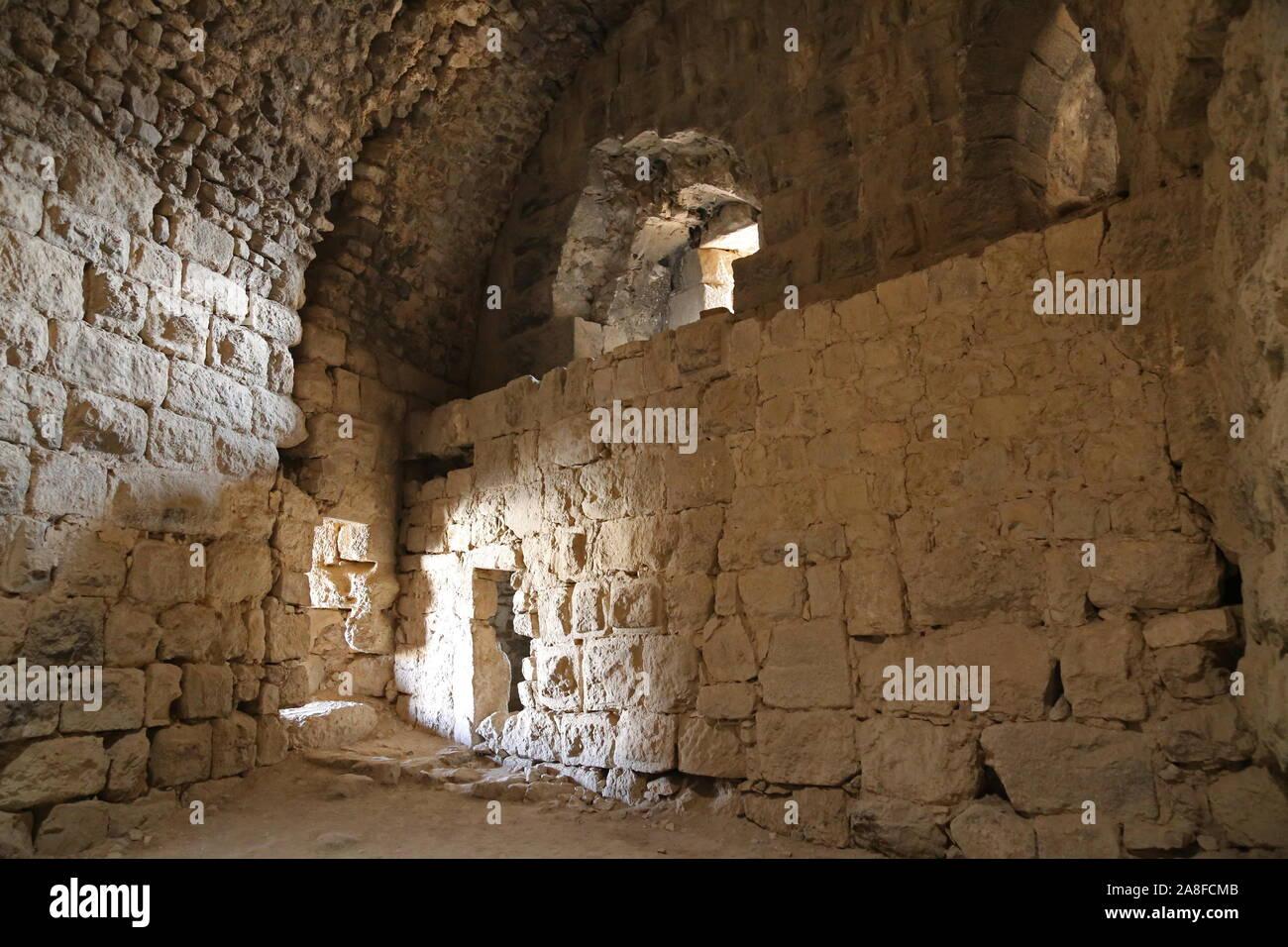 Mamluk Keep, Karak Castle, Al Karak, Karak Governorate, Jordan, Middle East Stock Photo