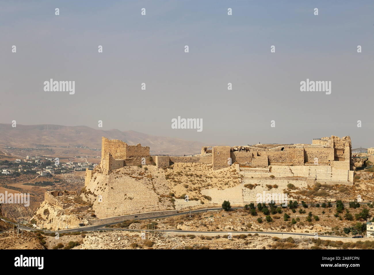 Karak Castle, Al Karak, Karak Governorate, Jordan, Middle East Stock Photo