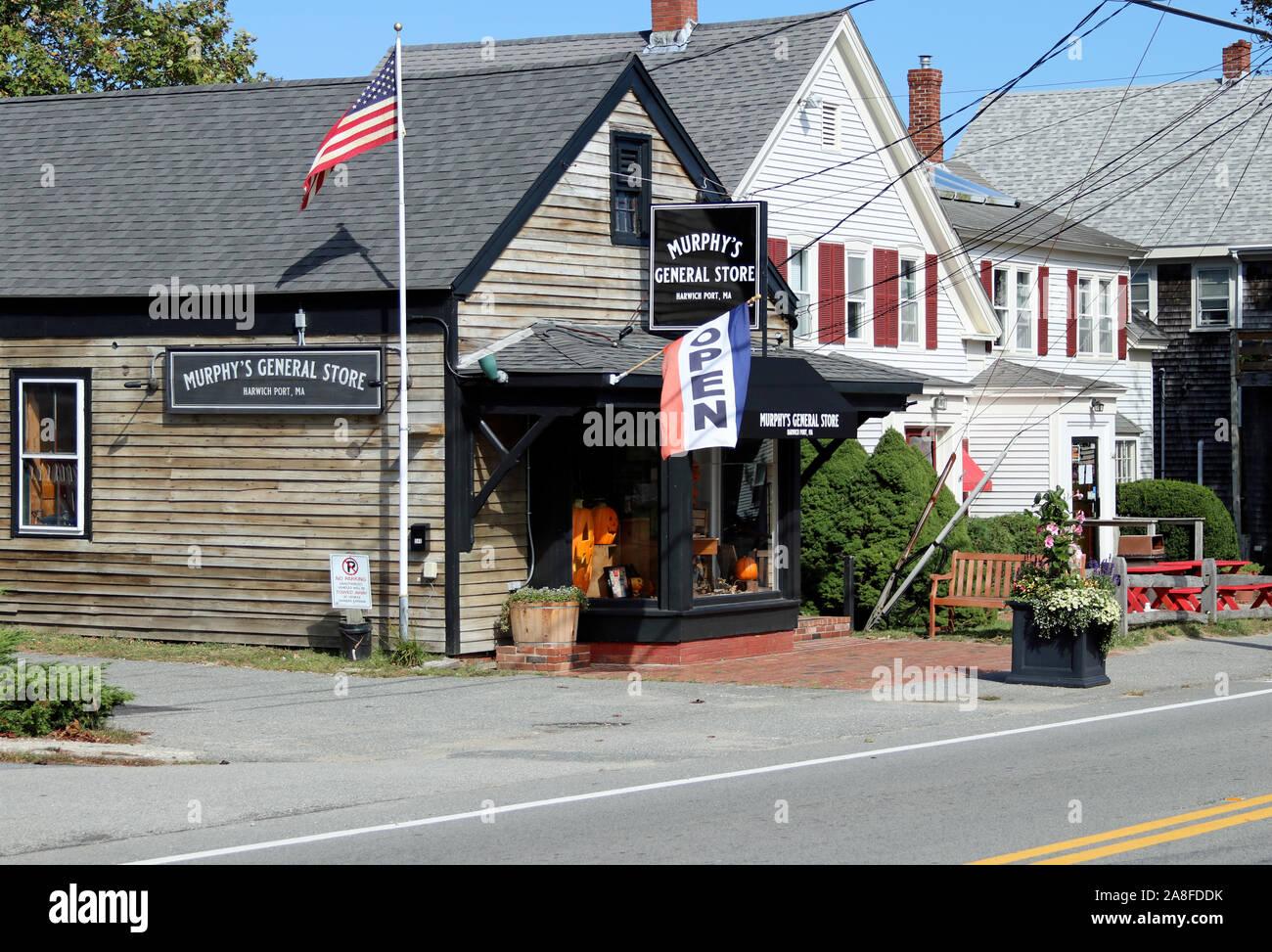 Murphy's General Store in Harwich Port, Massachusetts, on Cape Cod Stock Photo