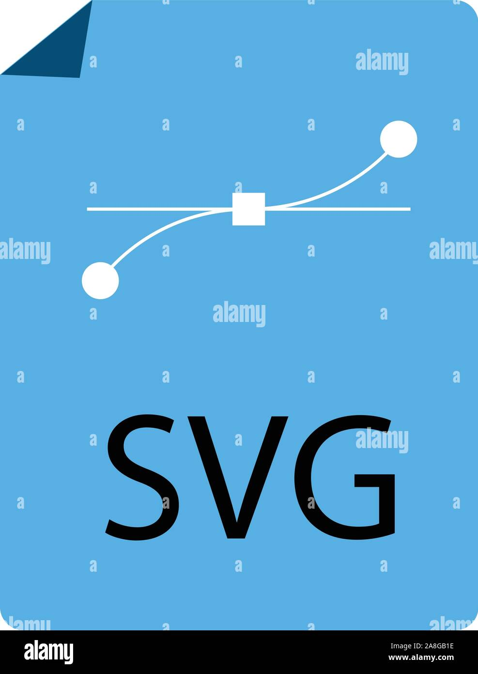 blue SVG File Document icon on white background. flat style. blue SVG File icon for your web site design, logo, app, UI. download SVG symbol. SVG file Stock Vector