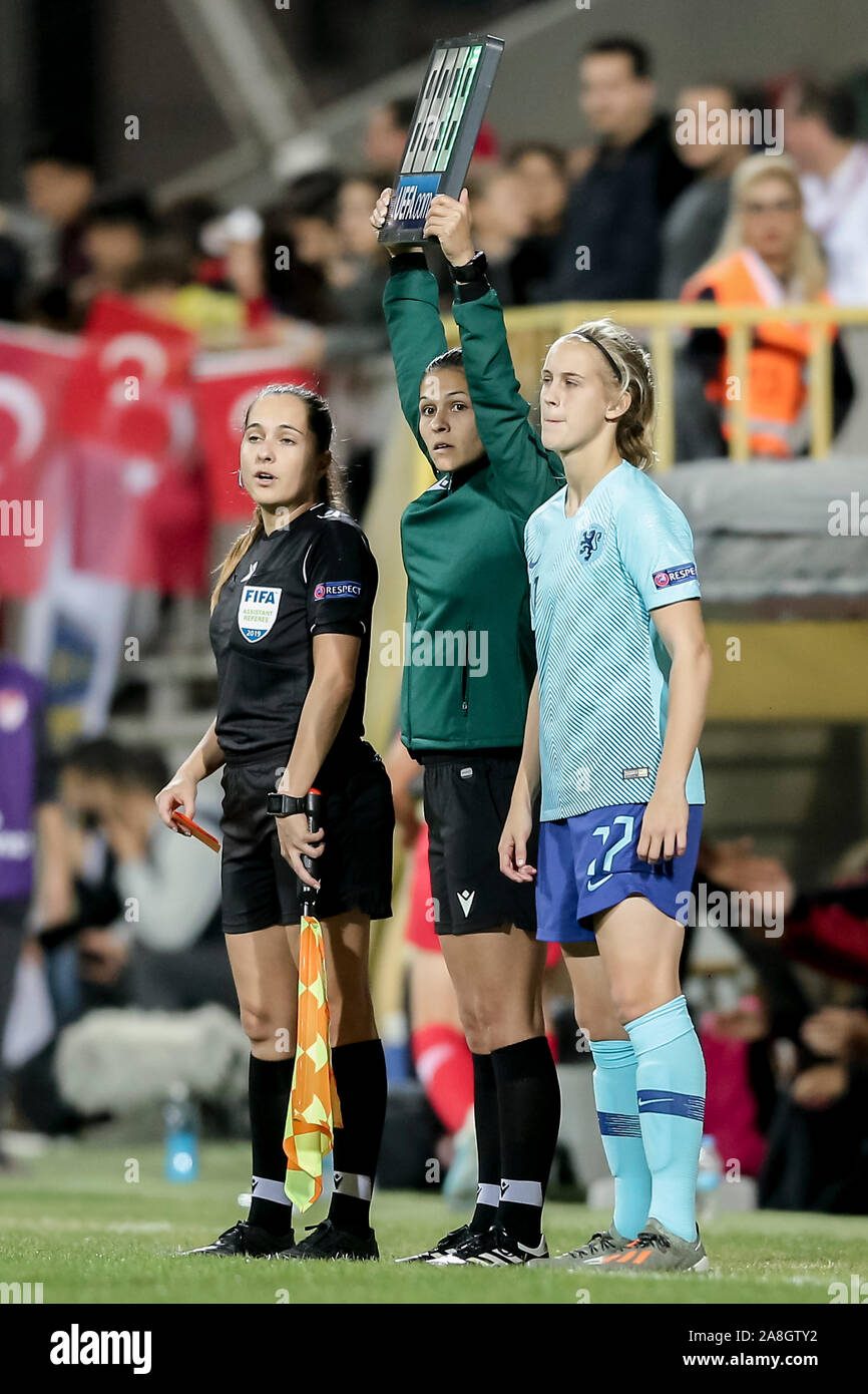 Izmir Turkey 08th Nov 2019 Izmir 08 11 2019 Bornova Stadium Qualifying Round Group A Turkey Netherlands Women Season 2019 2020 Netherlands Player Katja Snoeijs Makes Her Debut In The Dutch National Team