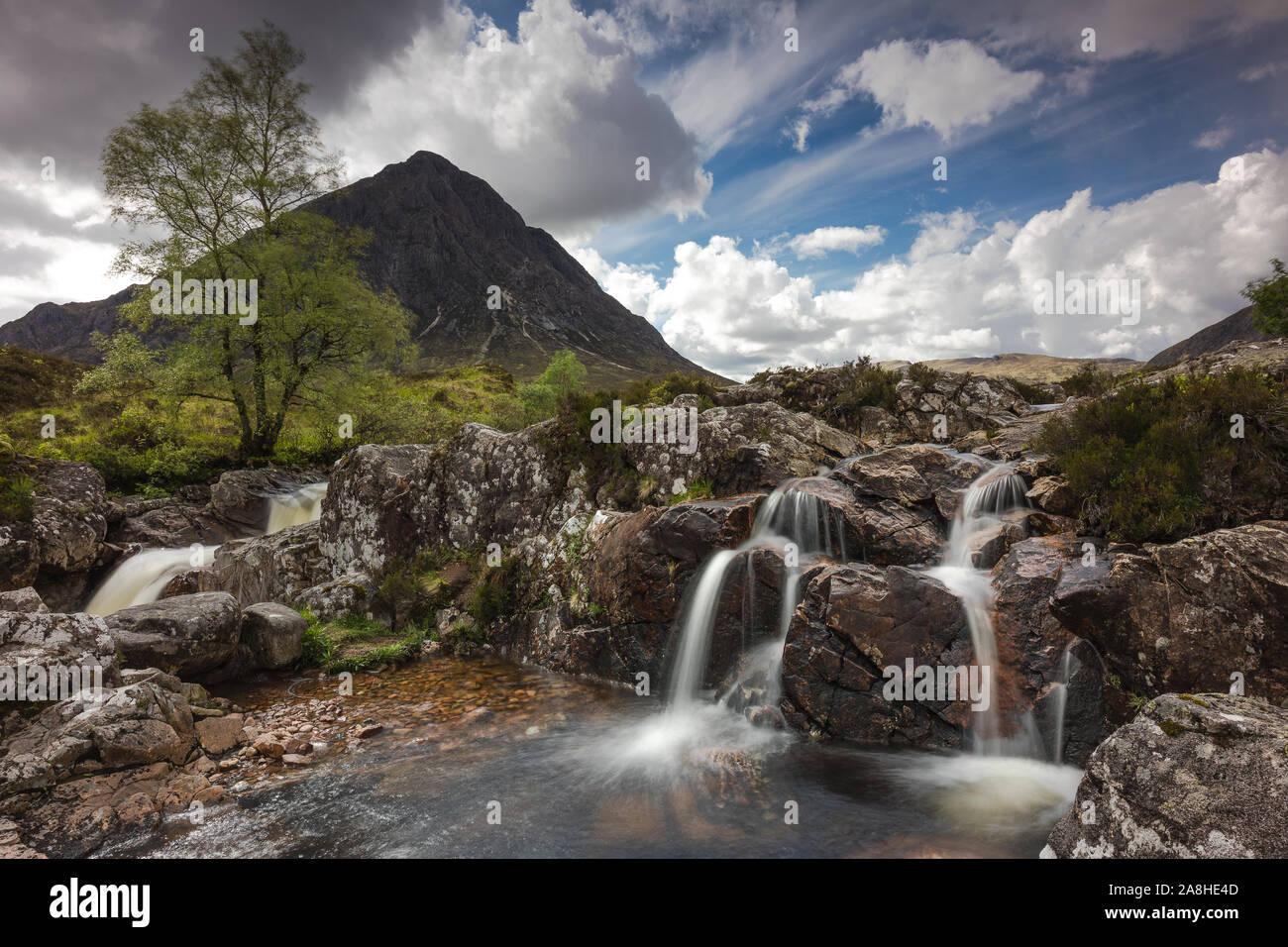 The beautiful Glen Etive in Scotland... Stock Photo