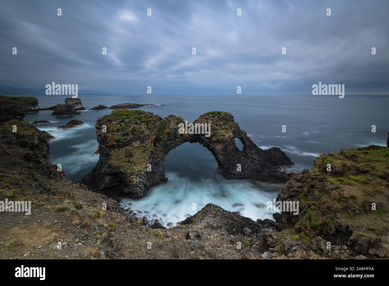 What a wonderful gate to the atlantic ocean... Stock Photo