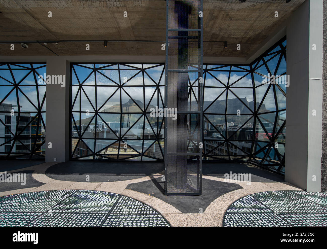 Architectural glazed panels in the Zeitz MOCCA museum of Contemporary Art Africa in Cape Town, South Africa Stock Photo