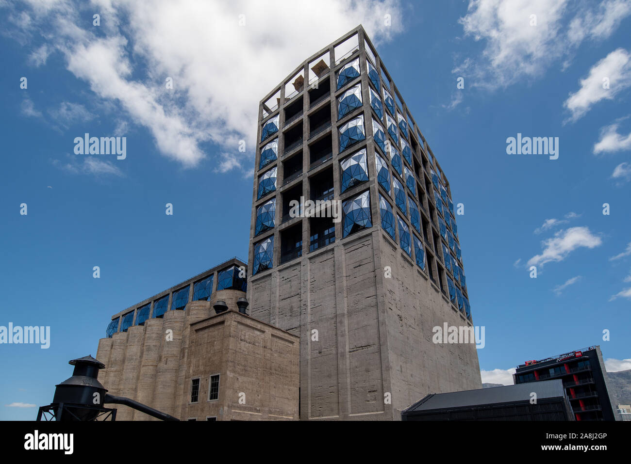 External view of Zeitz MOCAA Museum of Contemporary Art Africa, Cape Town, South Africa Stock Photo