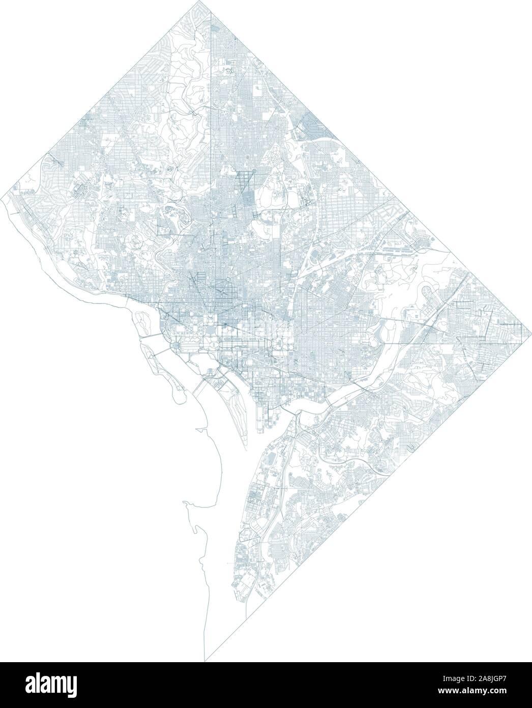 Satellite map of Washington D.C. and buildings, Usa. Map ... on usa network, usa television, usa map night, usa fishing, usa technologies, usa car, usa satellite light, usa 193 spy satellite, usa satellite night,