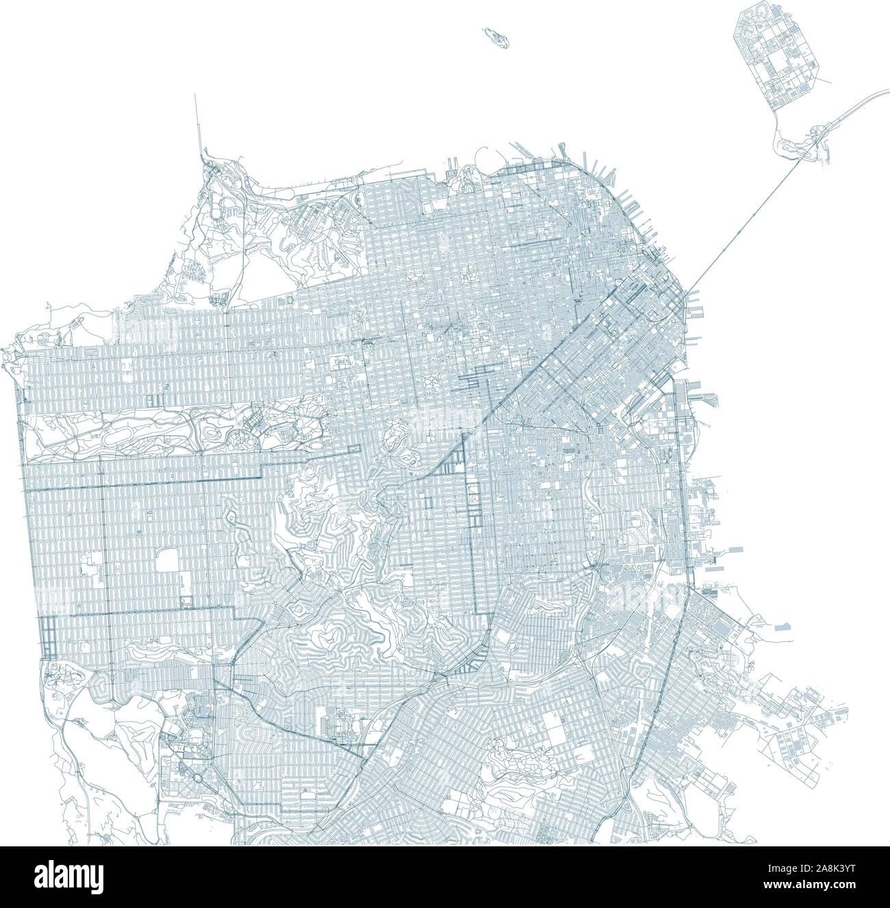 Satellite map of San Francisco and buildings, California ... on usa network, usa television, usa map night, usa fishing, usa technologies, usa car, usa satellite light, usa 193 spy satellite, usa satellite night,