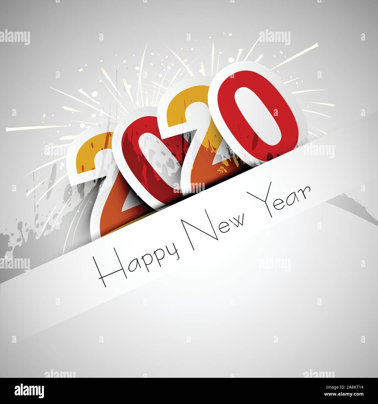 Happy New Year 2020, 2020 wishes, Happy New Year 2020, Celebrating 2020, calendar, Vector illustration Stock Vector