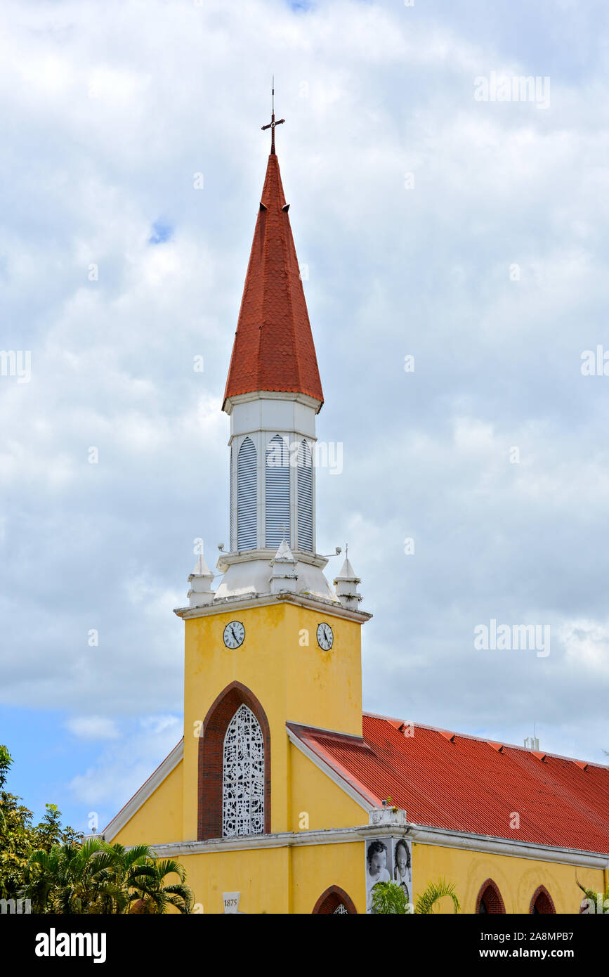 Cathedral Notre-Dame at Papeete, Tahiti Stock Photo