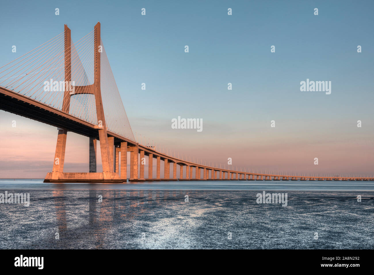 Vasco da Gama Bridge, Lisbon, Portugal, Europe Stock Photo