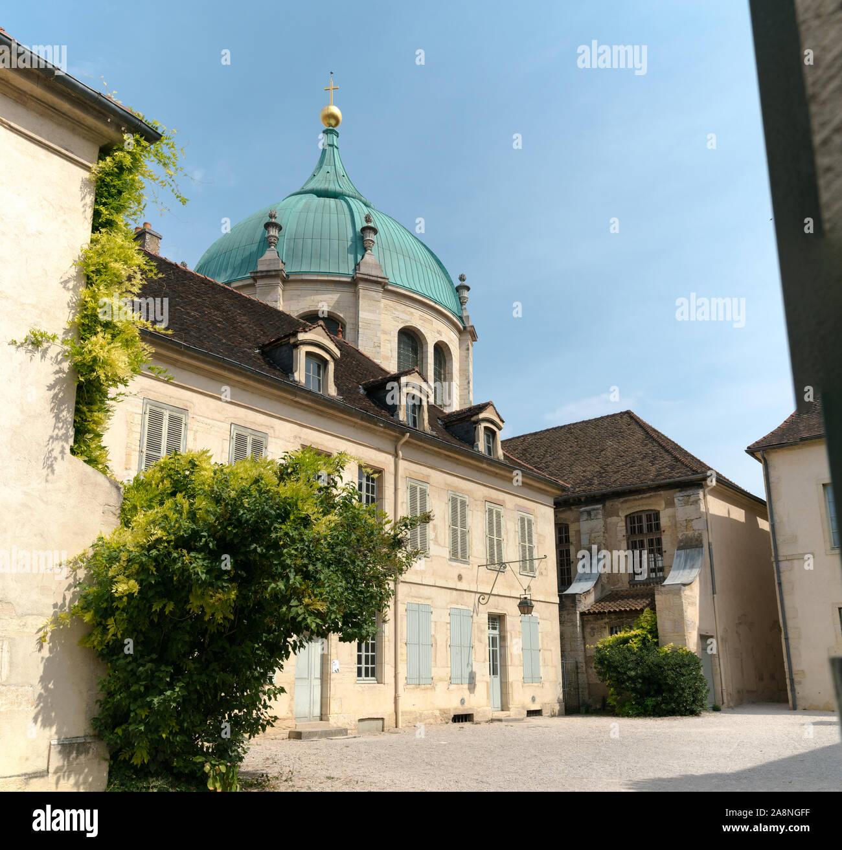Dijon, Burgundy / France - 27 August 2019: exterior view of the Musee de la Vie Bourguignonne or Museum of Burgundian Life  in Dijon Stock Photo