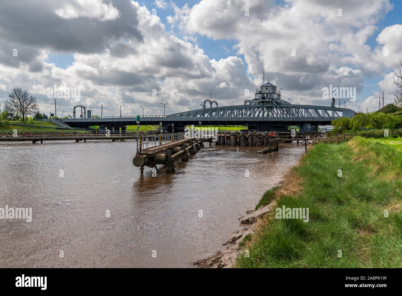 Bridge over the River Nene in Sutton Bridge, Lincolnshire, England, UK Stock Photo