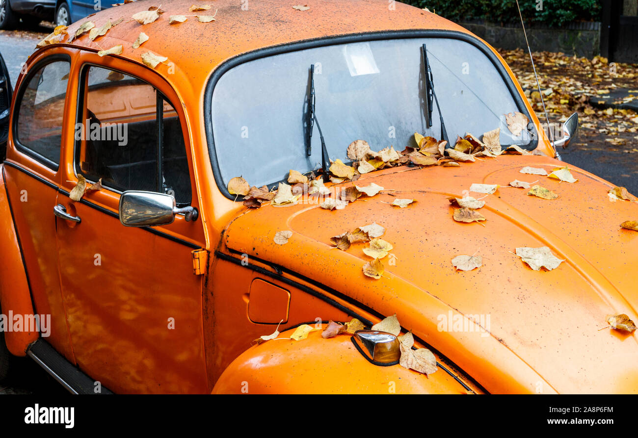 Vw Beetle Orange High Resolution Stock Photography And Images Alamy