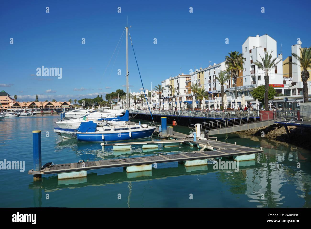 Europa, Portugal, Algarve, Vilamoura, Maritim, Hafen,  Strand, Meer, Atlantik Stock Photo