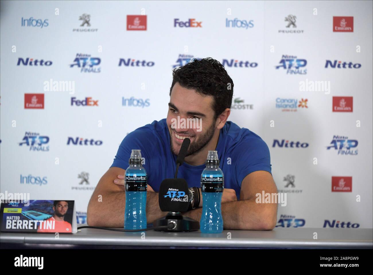 London, Italy. 10th Nov, 2019. berettini during Nitto ATP Finals - Tennis Internationals - Credit: LPS/Roberto Zanettin/Alamy Live News Stock Photo