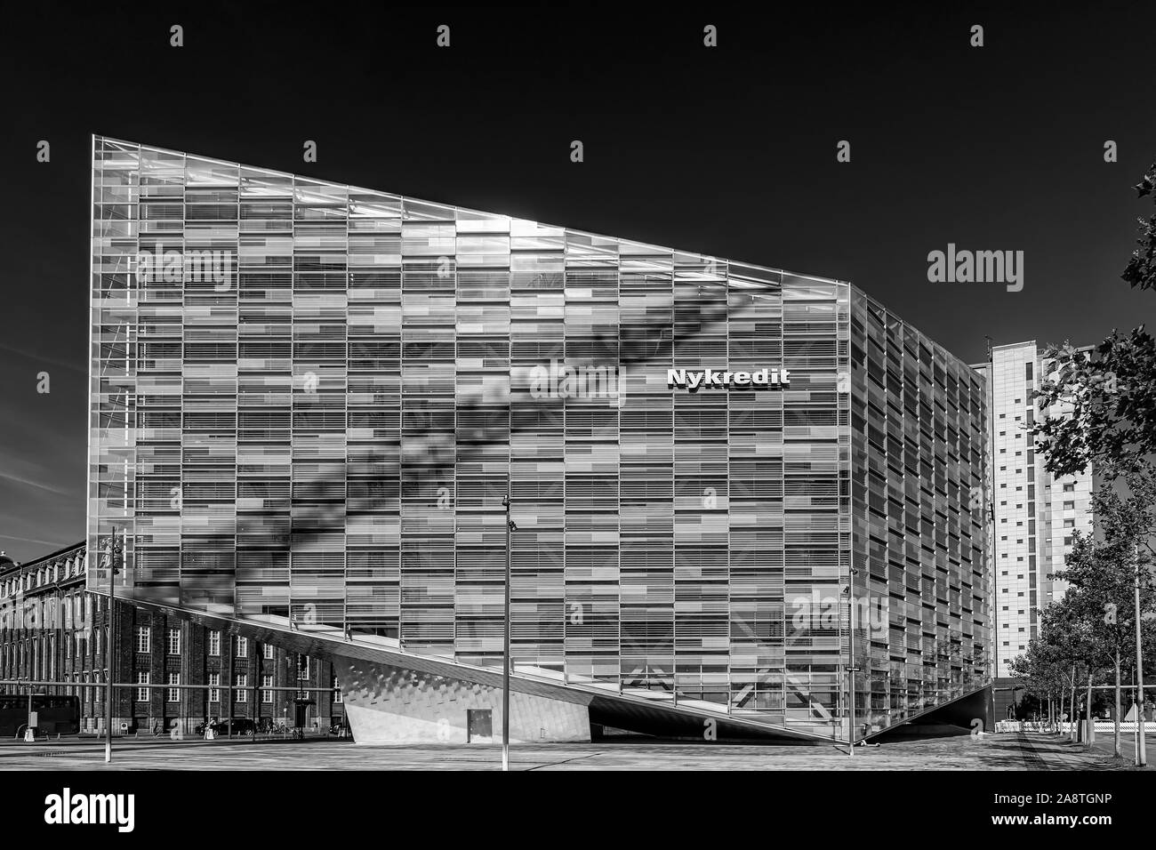 COPENHAGEN, DENMARK - SEPTEMBER 21, 2019: The Crystal is a free-standing, environmentally friendly extension of Nykredit headquarters at the Kalvebod Stock Photo