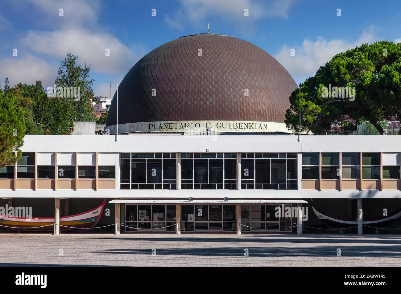 Lisbon, Portugal. Planetario de Lisboa Planetarium aka Calouste Gulbenkian Planetarium Astronomy science and universe education. Belem District Stock Photo
