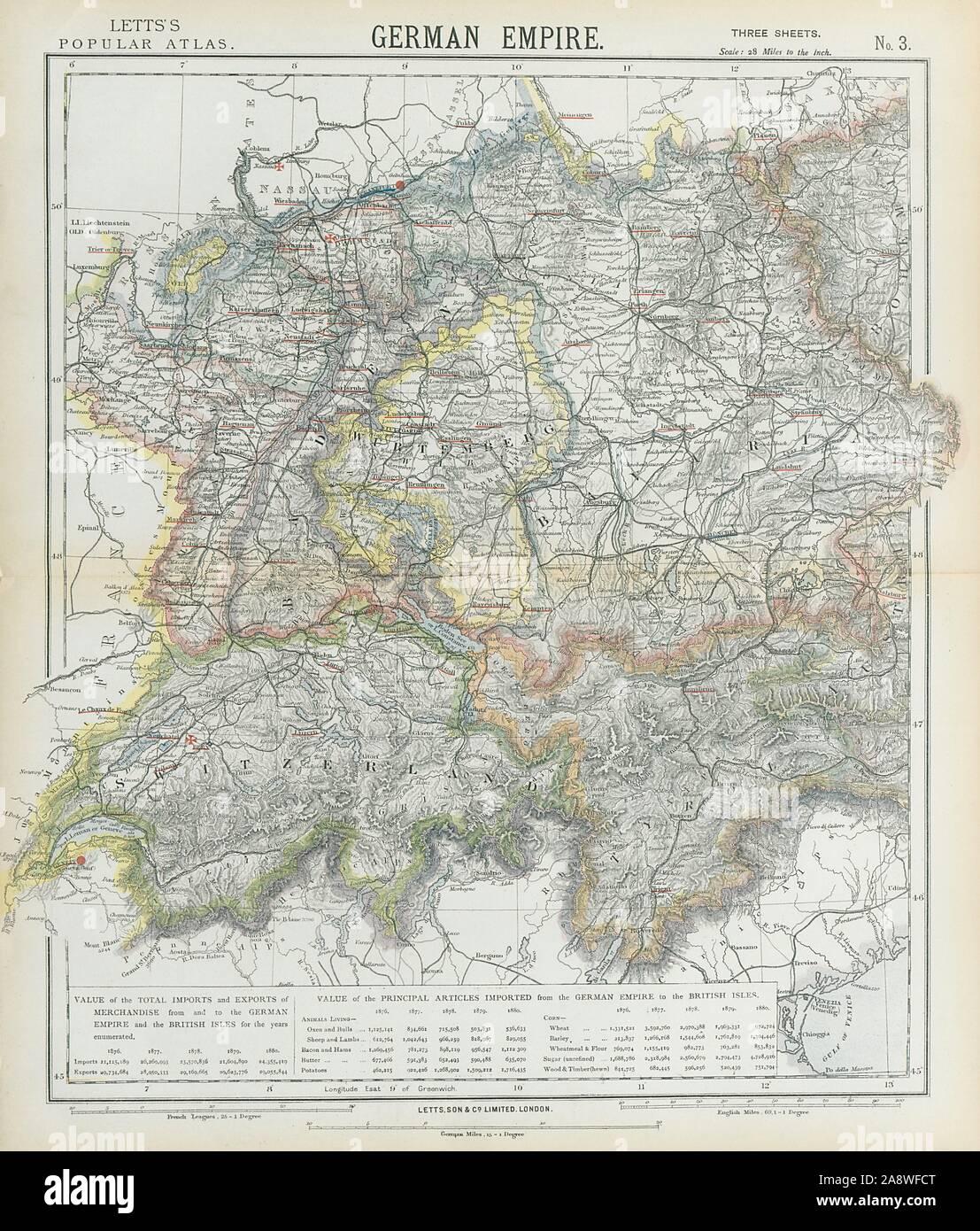 Map wurttemberg 1800 germany Erkenbrechtsweiler Map