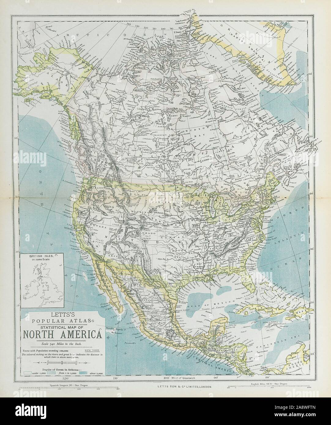 NORTH AMERICA showing Union Pacific transcontinental ...