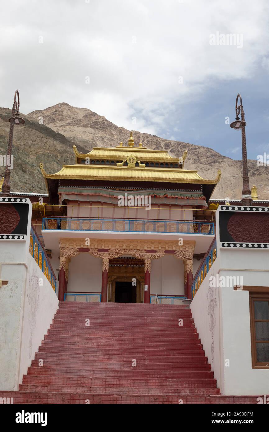 Sumur Monastery, Jammu and Kashmir, India Stock Photo
