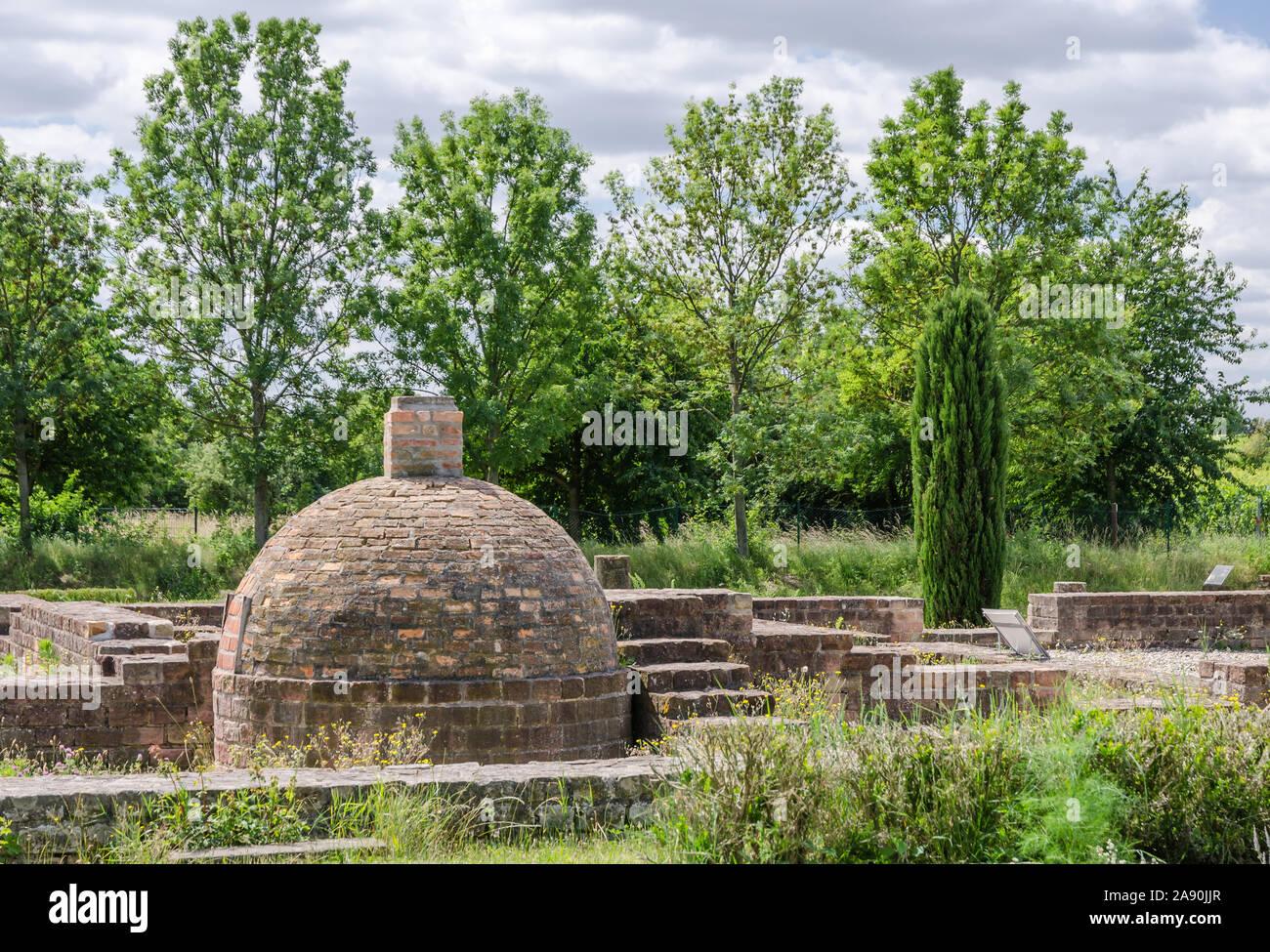 Roman estate at the German Wine Route, Rhineland-Palatinate, Germany Stock Photo