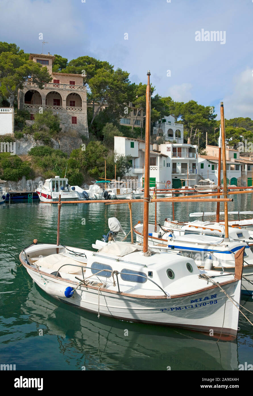 Cala Figuera, idyllic fishing village at South-West of Mallorca, Balearic islands, Spain Stock Photo