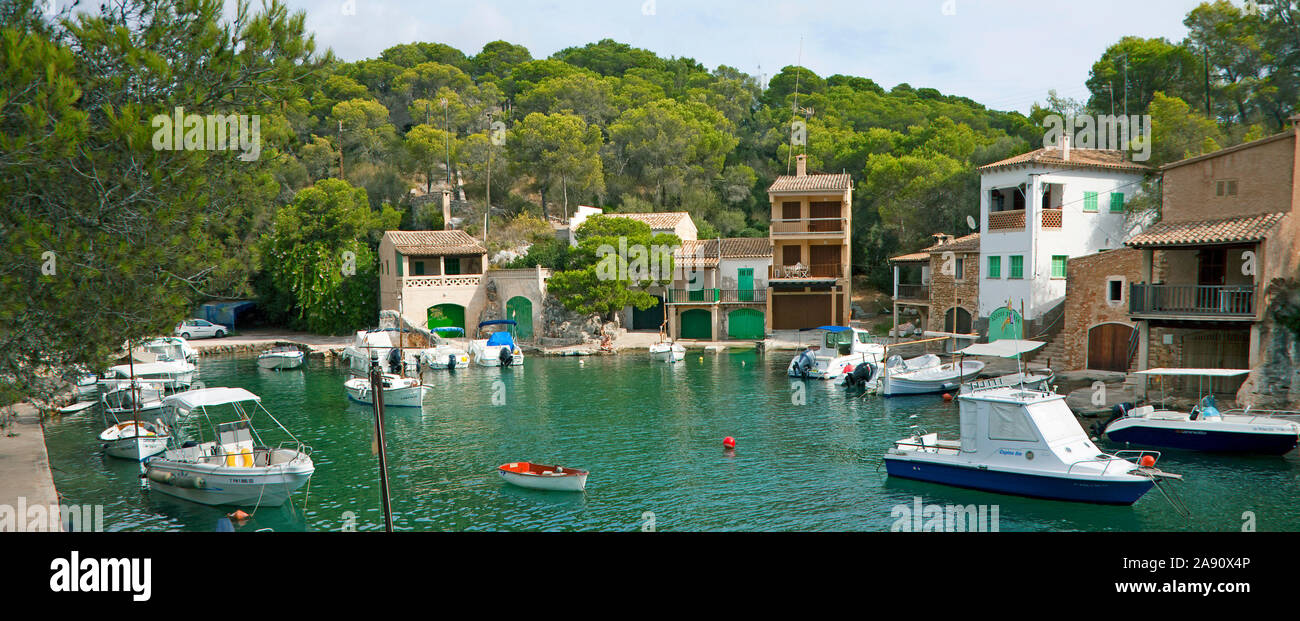 Cala Figuera, idyllic fishing village at South-West of Mallorca, Balearic islands, Spain Stock Photo