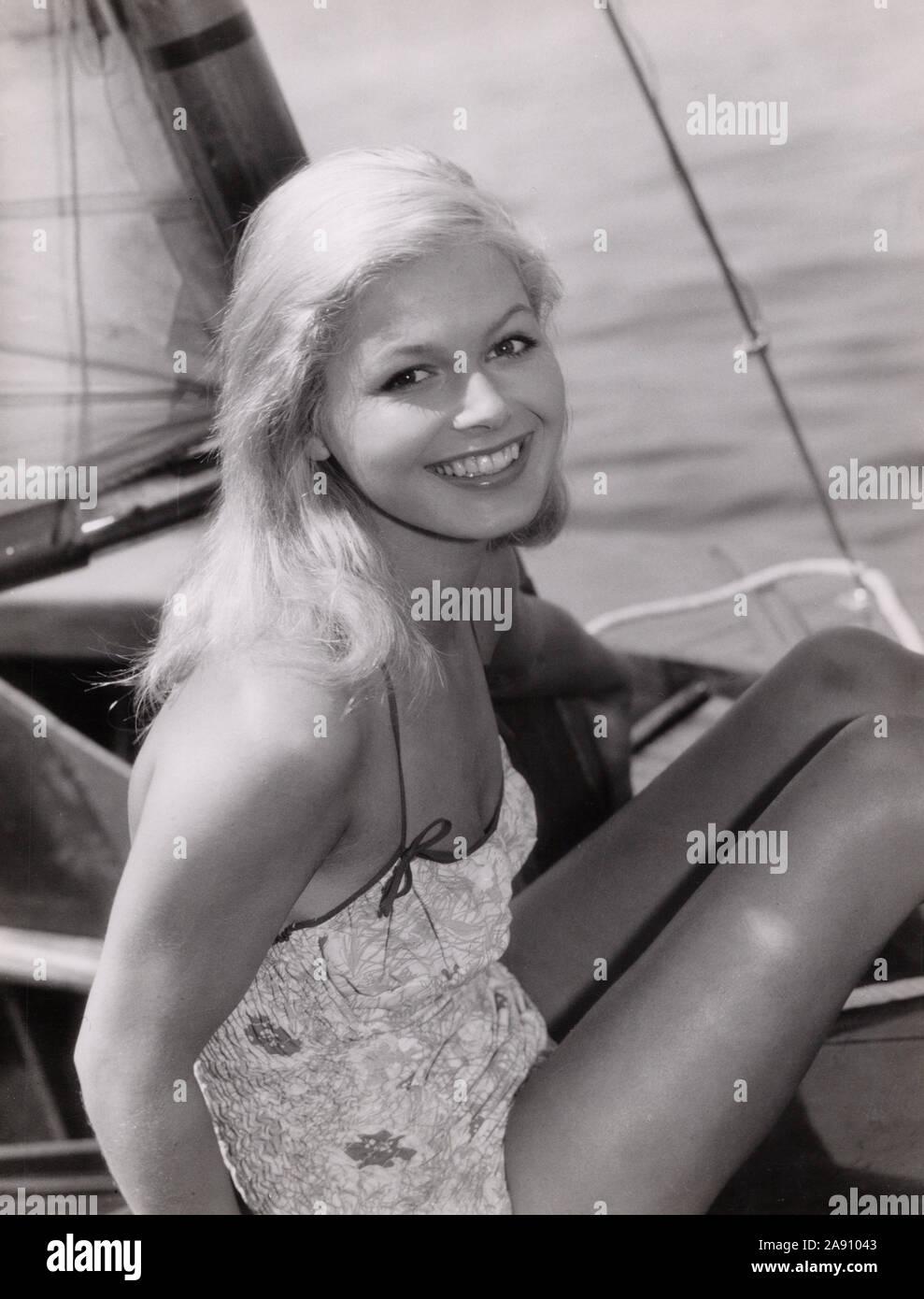 Gudula Blau, deutsche Schauspielerin, Deutschland ca. 1962. German actress Gudula Blau, Germany ca. 1962. Stock Photo