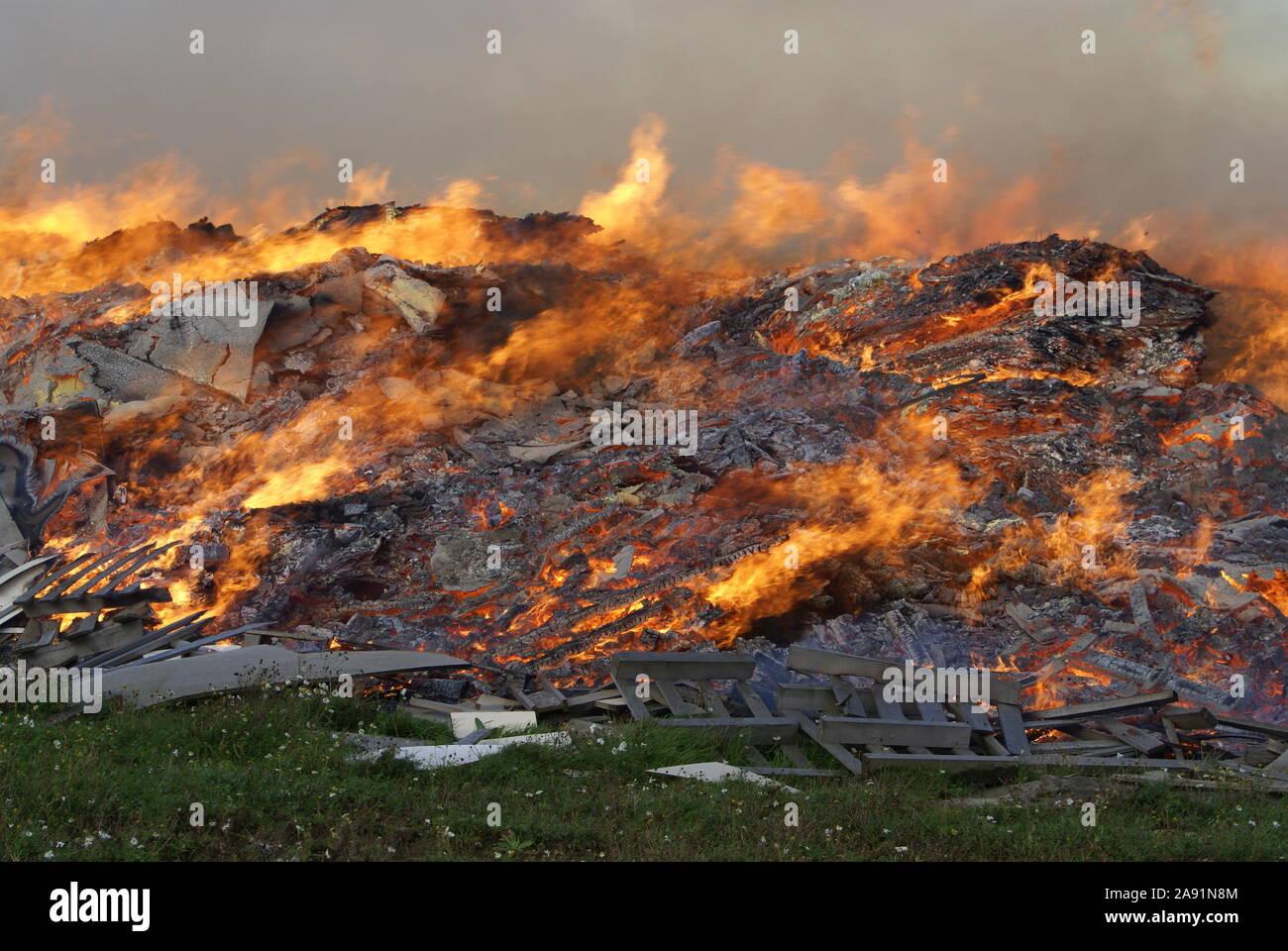New South Wales bushfire Stock Photo
